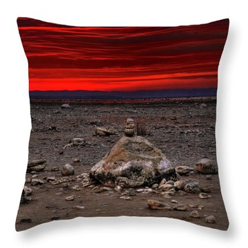 Stacked Beach Rocks Throw Pillow