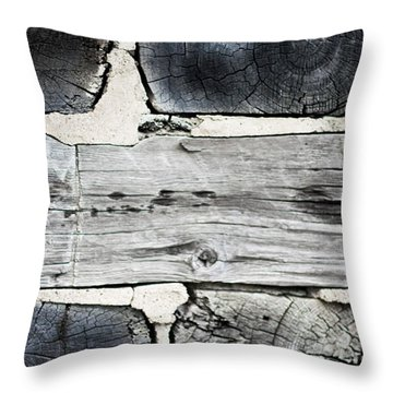 Stacked Block Abstract Throw Pillow by Barbara McMahon