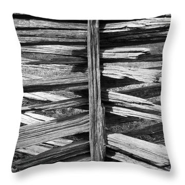 Throw Pillow featuring the photograph Stacked Fence by Lynn Palmer