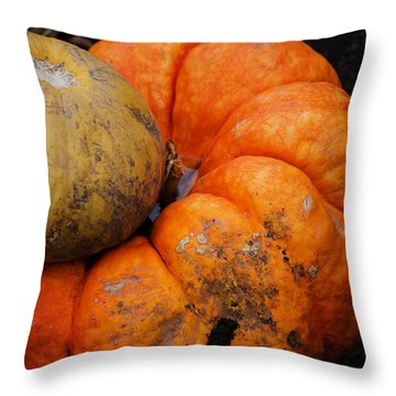 Stacked Pumpkins Throw Pillow