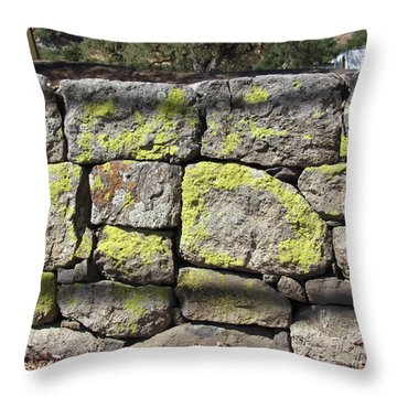 Stacked Stone Wall Throw Pillow