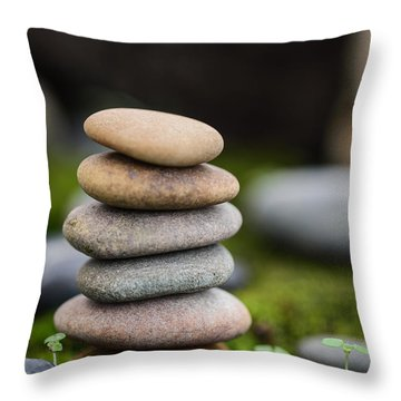 Stacked Stones B2 Throw Pillow