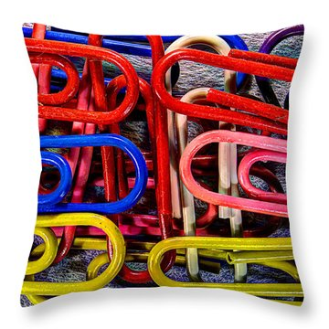 Stacks Of Clips Throw Pillow