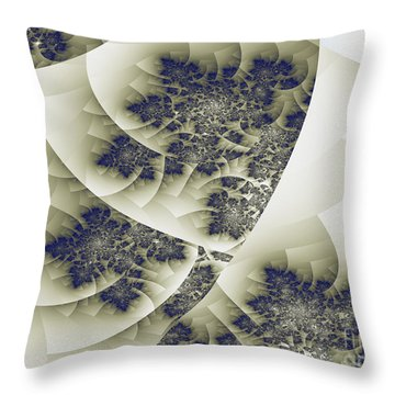 Throw Pillow featuring the digital art Stactal The Fractal by Arlene Sundby