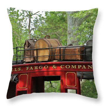 Stage Coach Throw Pillow by Rick  Monyahan