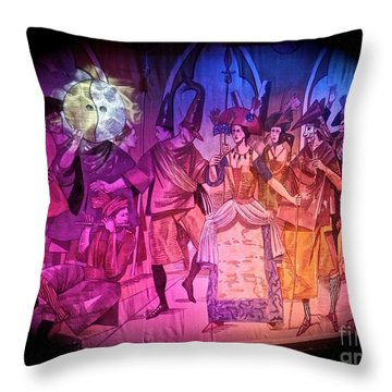 Stage Curtain At Sea Throw Pillow