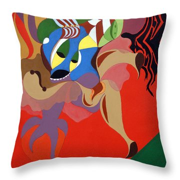 Stage Dancer Throw Pillow