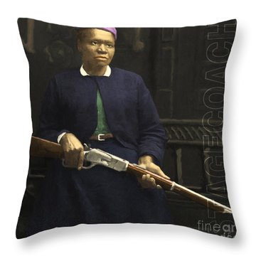 Stagecoach Mary Fields 20130518 Square With Text Throw Pillow