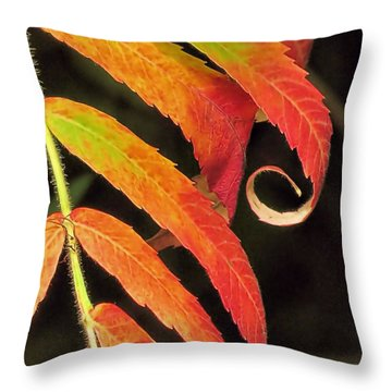 Staghorn Sumac Throw Pillow by Janice Drew