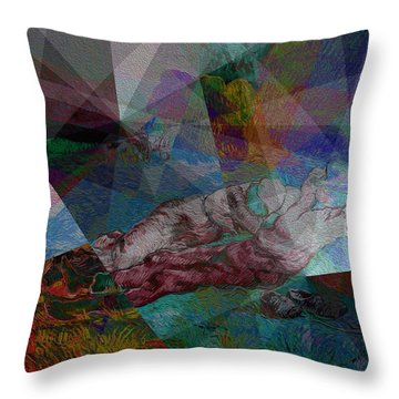 Stain Glass I Throw Pillow by David Bridburg