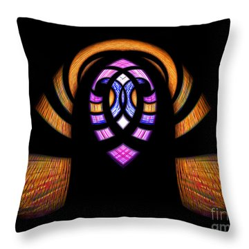 Stained Glass Abstract Throw Pillow by Sue Stefanowicz