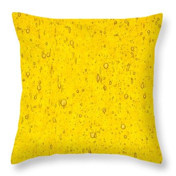 Stained Glass Abstract Yellow Throw Pillow