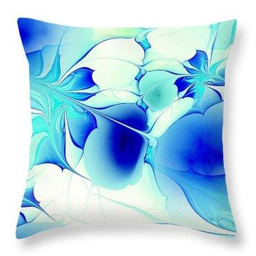 Stained Glass Throw Pillow by Anastasiya Malakhova