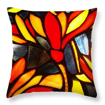 Stained Glass Eight Throw Pillow