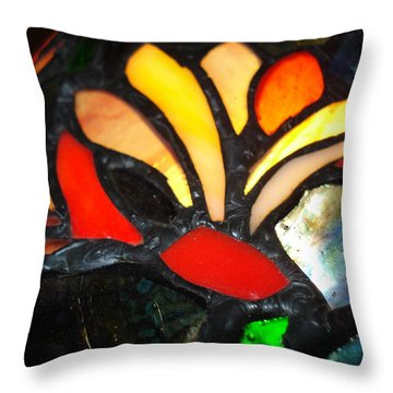 Stained Glass Five Throw Pillow