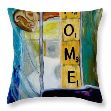 Stained Glass Home Throw Pillow