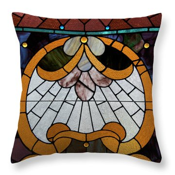 Stained Glass Lc 09 Throw Pillow by Thomas Woolworth
