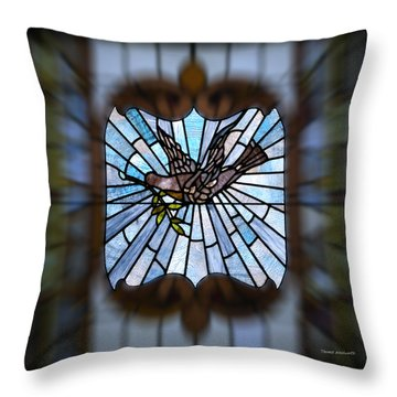 Stained Glass Lc 13 Throw Pillow by Thomas Woolworth