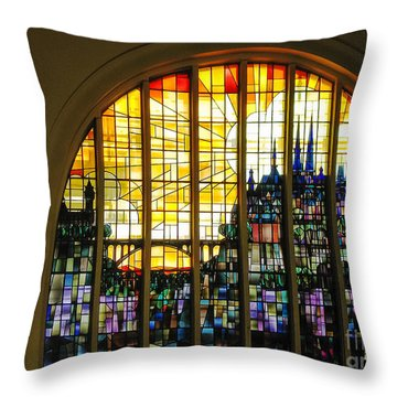 Stained Glass Luxembourg Throw Pillow