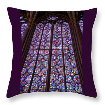 Stained Glass Magnificence Throw Pillow by Ann Horn