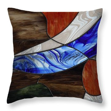 Stained Glass Panel  Throw Pillow