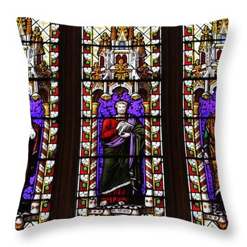 Stained Glass Pillars Throw Pillow