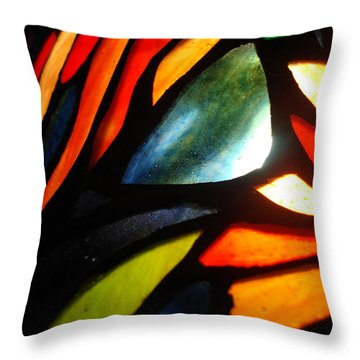 Stained Glass Seven Throw Pillow