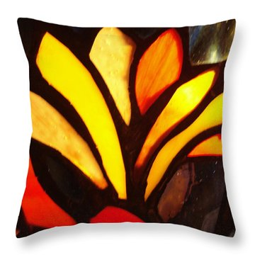 Stained Glass Six Throw Pillow