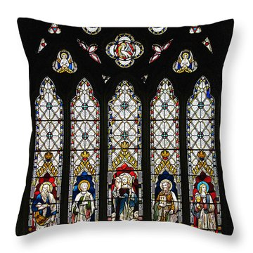 Stained-glass Window 1 Throw Pillow by Susie Peek
