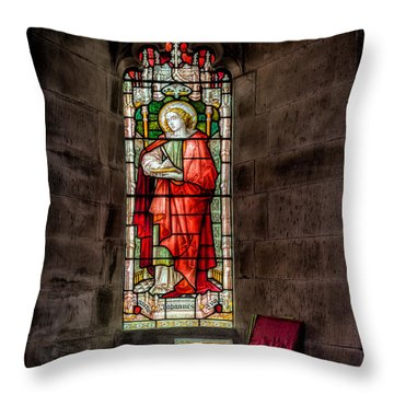 Stained Glass Window 2 Throw Pillow