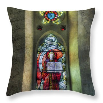 Stained Glass Window Art Throw Pillow by Ian Mitchell