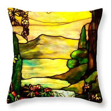 Stained Landscape 2 Throw Pillow
