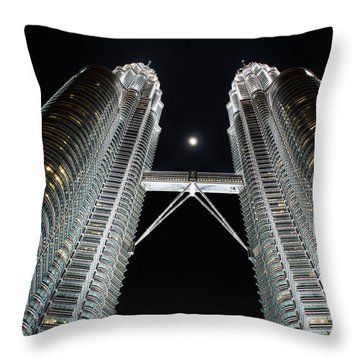 Stainless Steel Moon Throw Pillow