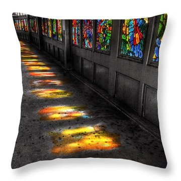 Stains In The Path Throw Pillow by William Fields