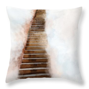 Stair Way To Heaven Throw Pillow