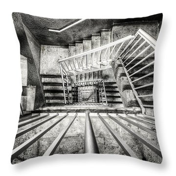 Staircase I Throw Pillow by Everet Regal