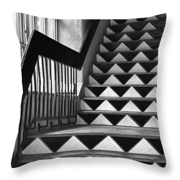 Throw Pillow featuring the photograph Staircase Santa Fe New Mexico by Ron White