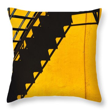 Throw Pillow featuring the photograph Staircase Shadow by Silvia Ganora
