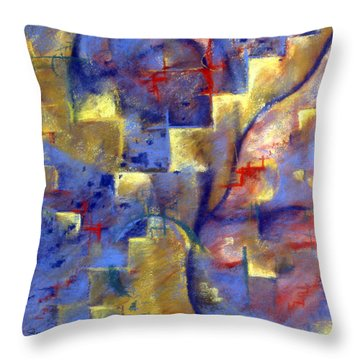 Staircases Throw Pillow by Susan Will