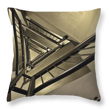 Throw Pillow featuring the photograph Stairing Up The Spinnaker Tower by Terri Waters