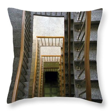 Stairs Throw Pillow by Ausra Huntington nee Paulauskaite