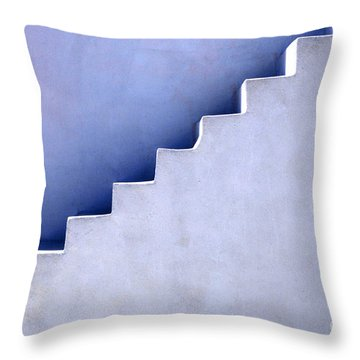 Stairs In Santorini Throw Pillow by Bob Christopher