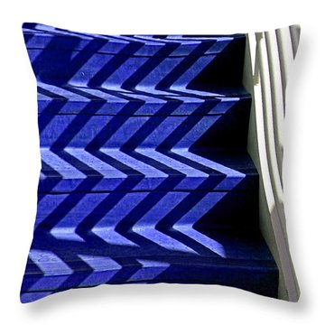 Stairs Of Blue Throw Pillow