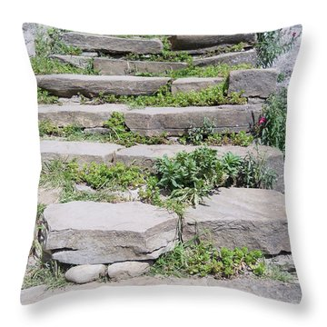 Throw Pillow featuring the photograph Stairs by Ramona Matei