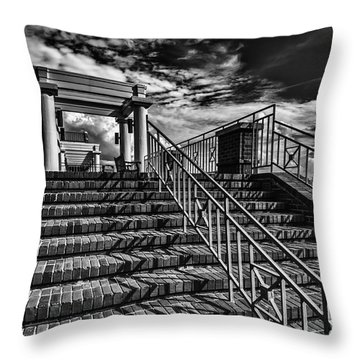 Stairway At Montgomery Museum Of Fine Arts Throw Pillow