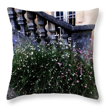Throw Pillow featuring the photograph Stairway In Sarlat France by Jacqueline M Lewis