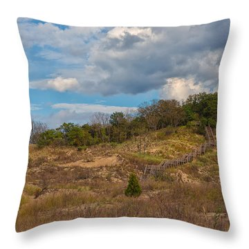 Stairway Of The Dunes Throw Pillow