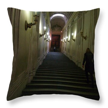 Throw Pillow featuring the photograph Stairway  by Robin Maria Pedrero