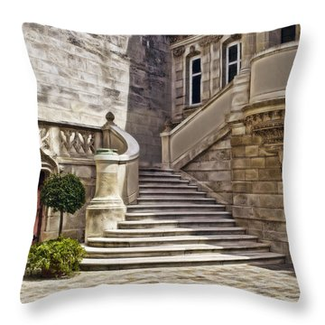 Stairway To Balcony Throw Pillow