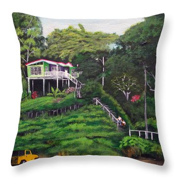 Stairway To Heaven Throw Pillow by Luis F Rodriguez